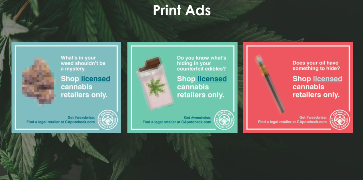 Get #WeedWise print ads