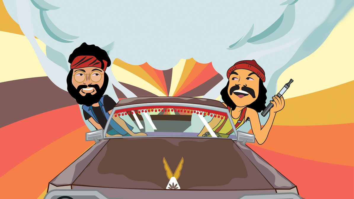 Cheech & Chong - Up In Smoke illustration - dispensaries opening